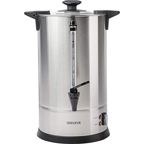 ONVAYA® Gastro Filterkaffeemaschine 6,75L | Kaffeespender für große Mengen | Industrie Kaffeemaschine | Mengenbrüher mit Heizelement