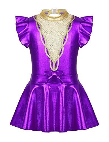 MSemis Maillot Gimnasia Artística para Niñas Body Ballet Patinaje Disfraz Bailarina Gran Showman Traje Halloween Competición Disfraces Circo Fiesta Navidad
