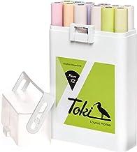 Toki Lot de 12 marqueurs pastel