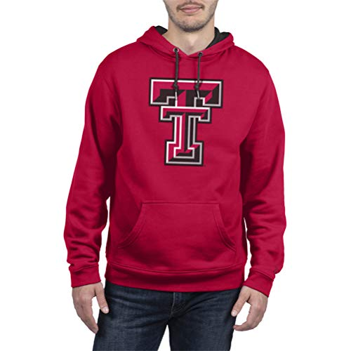 Top of the World Texas Tech Red Raiders Men's Hoodie Applique Icon, Red, Large