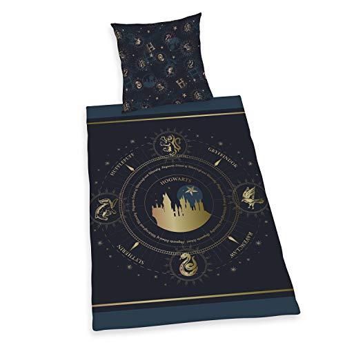 Herding Harry Potter Bettwäsche-Set, Wendemotiv, Kopfkissenbezug 80 x 80 cm, Bettbezug 135 x 200 cm, Mit leichtläufigem Reißverschluss, Baumwolle/Renforcé