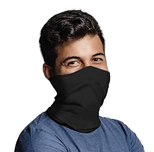 Heelium Bamboo Bandana for Men & Women, Anti Odour Super Soft & Comfort Fit, Breathable Multipurpose Headband, Face Mask for Sun and Dust Protection, Pack of 1, Black
