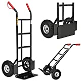 Juskys Sackkarre Basic klappbar | 200 kg belastbar | große Luftreifen | Kunststoff Griffe | Stahl Rahmen | Transportkarre Karre