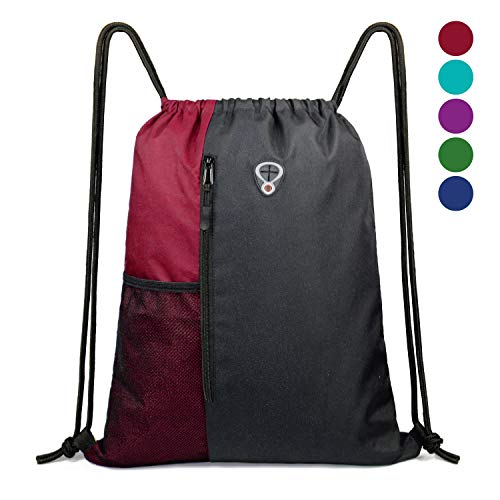 BeeGreen Drawstring Backpack Sports Gym Bag