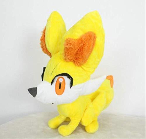 Pokemon XY Fennekin Plüsch Gefüllte Spielzeug Puppe Hot Flauschige Fuchs Blaze Spiel Plushie Spielzeug Weiche Spielzeug Kinder Geschenk 40cm A Laimi (Color : A, Size : 40cm)