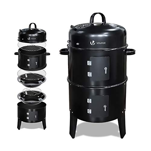 VOUNOT Barbecue Fumoir Smoker Multifonctions|BBQ 3 en 1...