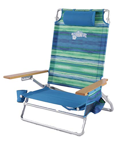 Fiji Oversized Wood Arm 5 Position Beach Chair