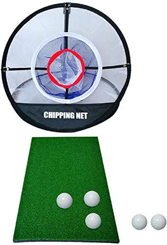 Golfübungsnetz, Golf Elite Chipping Net Bundle Set, Golf-Schlagnetze 51cm Golf Practice Matte Golf Netz Trainingsnetz Driving Netz, tragbare Driving Range Golf Cage Indoor Outdoor mit Tragetasche