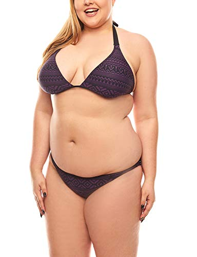 Maui Wowie Triangel Bustierbikini Bademode Bikini Azteken-Muster Große Größen Violett, Größenauswahl:44 / C-D