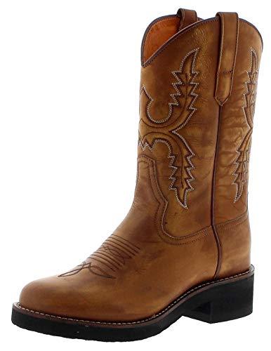 Sendra Boots Damen Cowboystiefel 11615 Siena Westernreitstiefel Lederstiefel Braun 39 EU