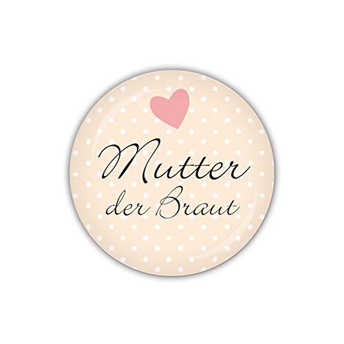 lijelove® Button 38mm Ø I DO Mutter der Braut, apricot (Art. BU38-286)