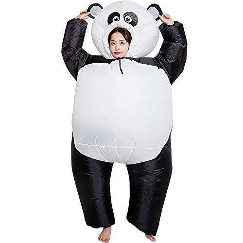 DJLOOKK Panda aufblasbares Kostüm Cosplay Maskottchen Lustige Luft Blow Up Anzug Party Kostüm Kostüm Halloween Kostüm für Erwachsene Overall