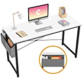 Cubiker Computer Desk 47' Home Office Writing Study Desk, Modern Simple Style Laptop Table with Storage Bag, White
