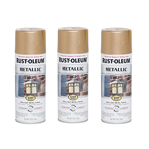 Rust-Oleum 286564-3PK Stops Rust Metallic Spray Paint