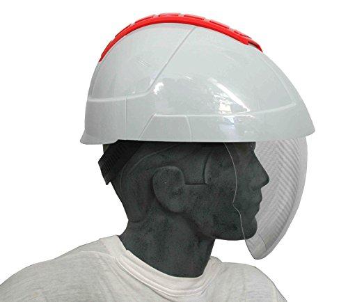 E-MAN 4000 - Casco de electricista con visera completa retráctil y caja crashbox (zona de aplastamiento)