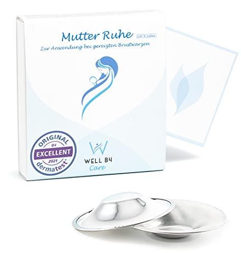 Well B4® Care Copricapezzoli allattamento 2 pezzi in argento 999, coppette d argento allattamento, come protezione ed effetto lenitivo per capezzoli sensibili e doloranti, durante l'allattamento.