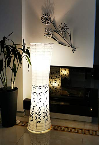 Trango PEKING Lámpara de pie, diseño moderno, papel de arroz, lámpara TG1217...