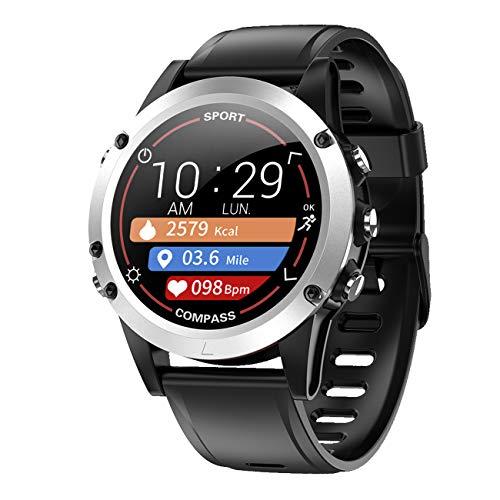 Pulsera de seguimiento de actividad física con frecuencia cardíaca, pulso, presión arterial, brújula, sueño, pasos, pantalla a color, 9714/7