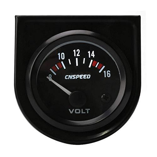 Hyy-AA voltmeter 2 inch (52 mm) Universal 8-16 Volt voltmeter voor snelheidsmeter auto vrachtwagen boot