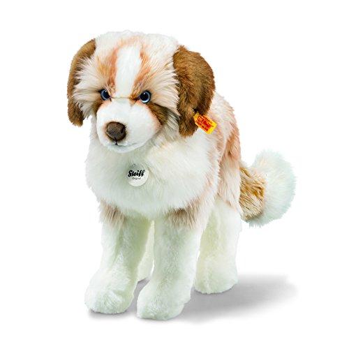 Steiff 79641 Cookie 38 braun/Weiss stehend Hund