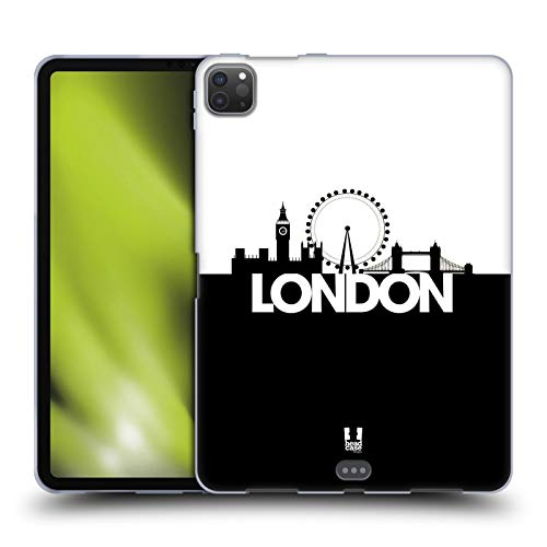 Head Case Designs London Black And White Skyline S3 Soft Gel Case Compatible for Apple iPad Pro 11 (2020)