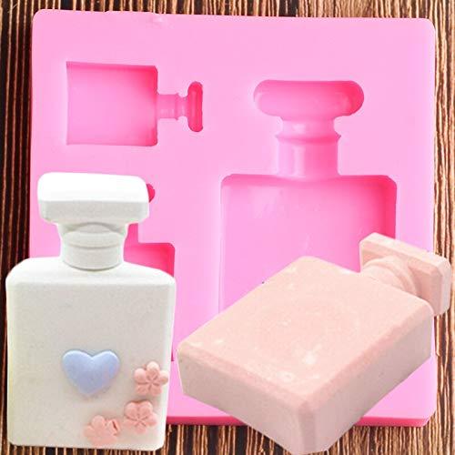 GAOTIAN Botella de Perfume 3D Moldes de Silicona Fondant Torta Decoración Herramientas Candy Chocolate Gumpaste Molde Resina Moldes de Arcilla