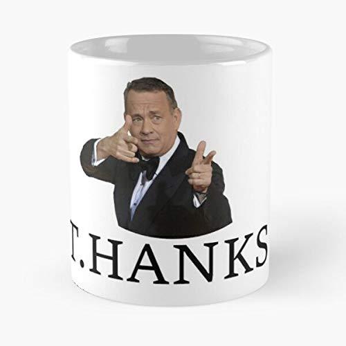 Thanks Tom Hanks - Taza con diseño de mármol blanco