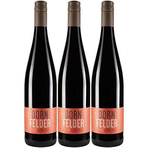 """Nehrbaß - """"Dornfelder 2019"""" - Rotwein lieblich 3 x á 0,75 Liter - Qualitätswein - Vegan - Aus Deutschland (Rheinhessen) - mit Schraubverschluss"""