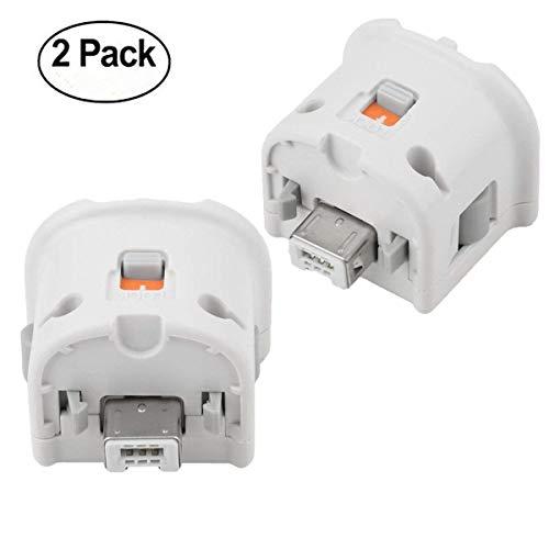 YiYunTE 2 Pcs Acelerador de Sensor Motion Plus Adapter para Nintendo Wii Remoter Controller Blanco