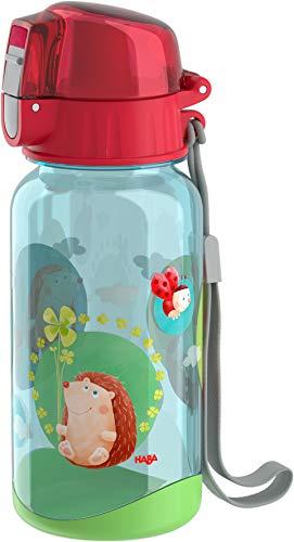 HABA 305151 - Trinkflasche Glück, Trinkflasche für Kinder 400 ml mit Glücksmotiv, mit großer Öffnung und Verschlusskappe, läuft nicht aus, BPA-freier Kunststoff, für die Spülmaschine