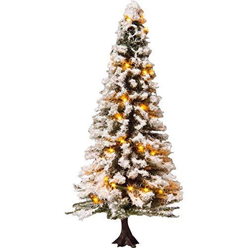 Beleuchteter Weihnachtsbaum, verschneit, mit 30 LEDs, 12 cm hoch