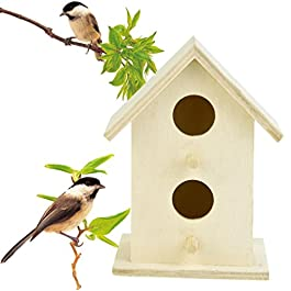sunnymi New Wooden Bird Box, Nesting Nest Box House Bird House