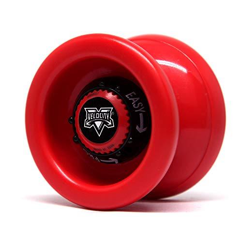 YoyoFactory VELOCITY Yo-Yo - ROSSO (Dal Principiante Al Professionista, Gioco Yoyo Moderno, Cuscinetto a Sfera In Metallo, Corda e Istruzioni Incluse)