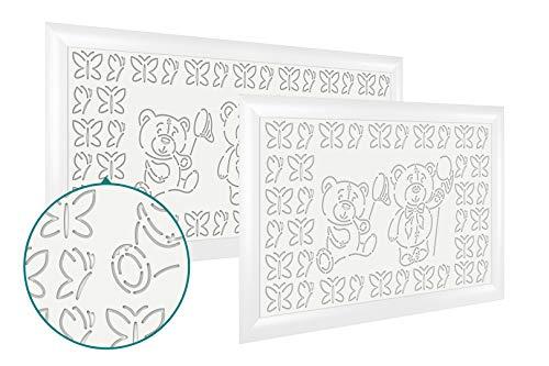 Heizkörperverkleidung | hitzebeständige MDF Platte | Heizung | Abdeckung | modern | Lüftungsgitter | verschiedene Größen | 120 x 60 cm | Bärchen