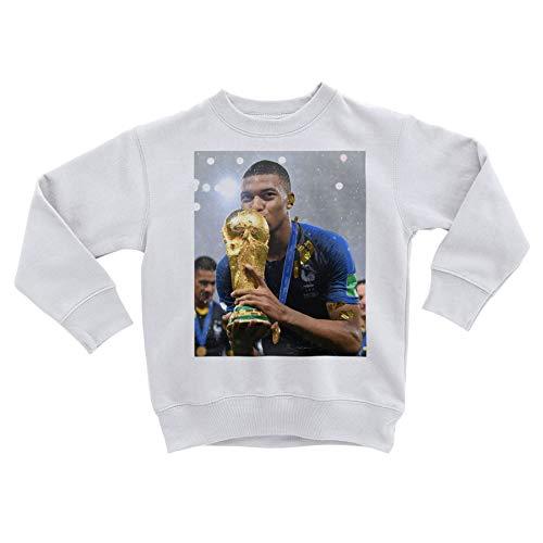 Sweatshirt Enfant Kylian Mbappe Equipe De France Coupe du Monde Trophe