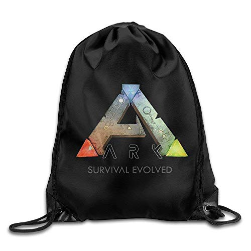 Drempad Bolsos De Gimnasio,Mochilas, Ark Survival Evolved ARPG Game Logo Drawstring Backpack Sport Bag