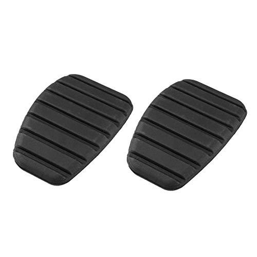 EQVUDJT Accesorios de Coche For Renault Megane Laguna For Clio Kango Pedal de Embrague de Freno Escénico Pedal de Goma Pedal de Freno Pedal Cubierta Cubierta Antideslizante (Color : Black)