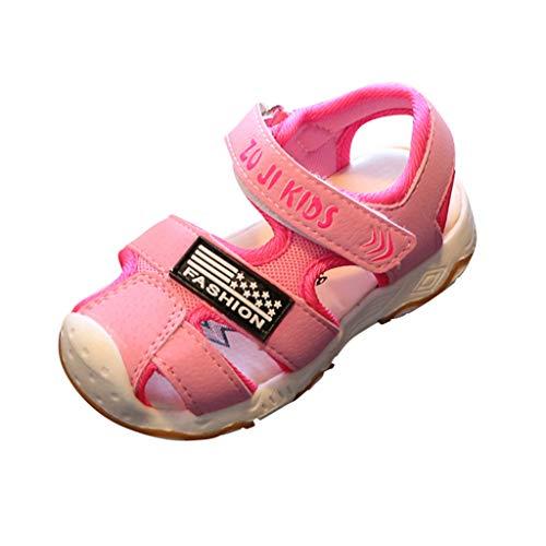 Sandalias con Punta Cerrada para Niños - Tamaño 21~30 - Loop Fastener Zapatillas Niños Deportivas Playa - 2019 Verano Zapatos para 1-6 Años Bebe Niñas