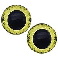 (J)[グリーンピアッシング]8mmドールアイカボーションガラスパーツ/2個セット (カラー)16 丸型 ドーム型 人形の目 円型 部品 材料 目玉 眼球 DIY ハンドメイド 人気