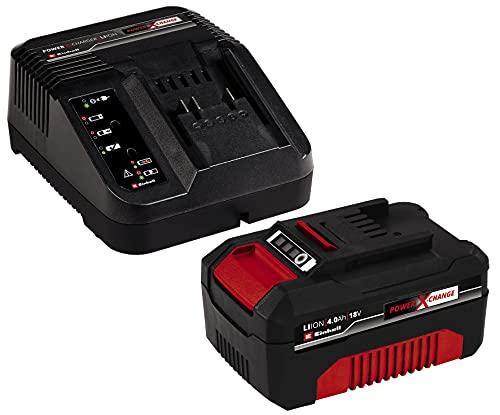 Original Einhell Starter Kit Akku und Ladegerät Power X-Change (Lithium Ionen, 18 V, 4,0 Ah Akku und Schnellladegerät, passend für alle Power X-Change Geräte)
