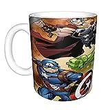 Marvel Avengers - Taza de café grande de cerámica para oficina y hogar, 330 ml, apta para lavavajillas y microondas, 1...