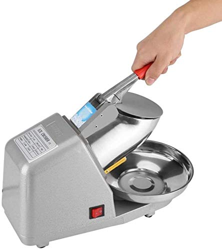 Ice blender Stainless Steel Commercial Heavy Duty Ice Shaver Machine Crusher Household Manual Electric Snow Cone Maker 110V Shaved for Home Commercial best gift