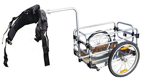 Trollix Remorque Randonnée - Chariot Randonnée Pliable - Remorque Vélo - Remorque 2 en 1