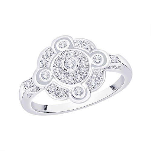 KATARINA Diamond Fashion Ring in 14K White Gold (1/4 cttw, I-J, I1-I2) (Size-7)