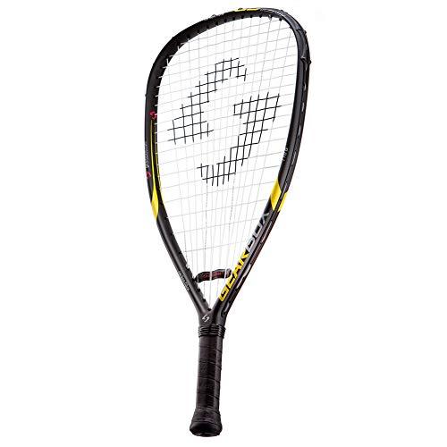 "GEARBOX GB-125 3-5/8"" Quad Black/Yellow Racquetball Racquet"