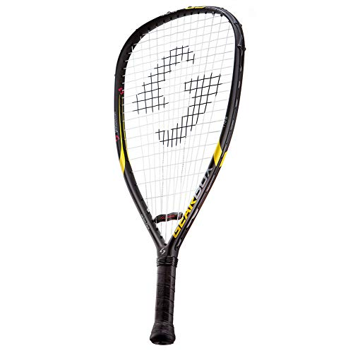"GEARBOX GB-125 3-5/8"" Quad Black/Yellow Racquetball Racquet"