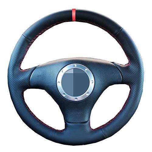 MDHANBK Funda para volante de coche cosida a mano, para Audi A3 2000-2003 A4 2003 2004 2005 RS 6 2003 S4 2004 2005 2006 TT 1999-2006