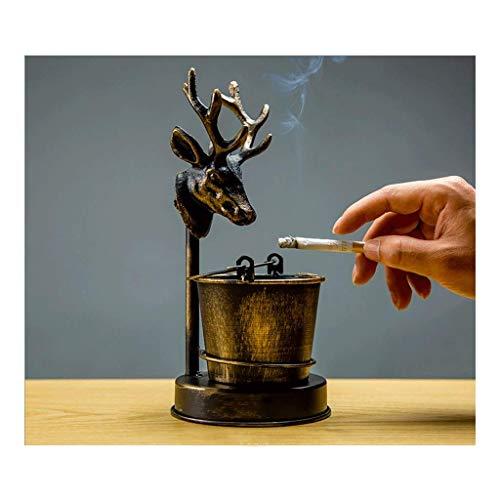 Cigarro retro de cigarros de cigarro, bandeja para cenizas para fumar para uso en interiores o al aire libre, para patio / interior / de inicio bar sala de estar decoración de oficina interior (color: