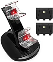 Xbox One Controller Charger Charging Station, High Speed Wireless Docking Charger Stand with 2 x 1200 mAH Rechargeable Battery Pack for Xbox One/Xbox One S/Xbox One X Controllers.