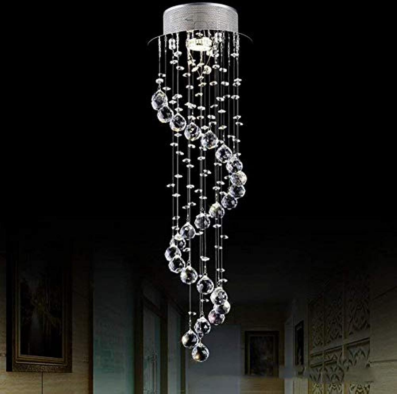 Oudan von Crystal Chandeliers, Gemeinschaften von einfachen Stil Villa Lounge Lange Kronleuchter Shooting LED Treppen Lichter (Farbe    3) (Farbe    2)